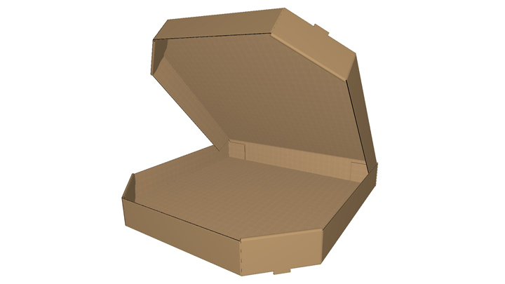 Corrugated tray with lid