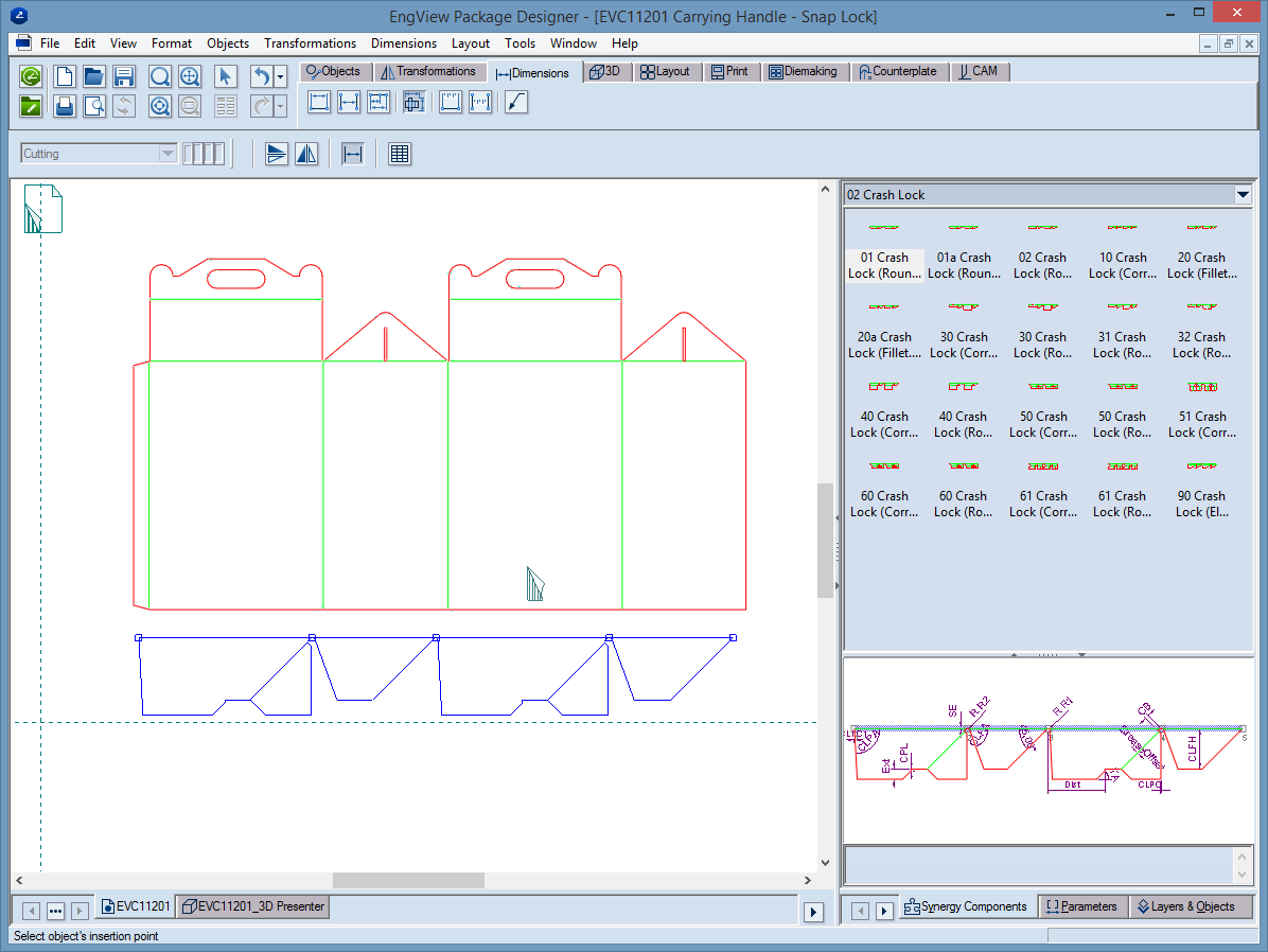 EngView's packaging software allows design customizing.
