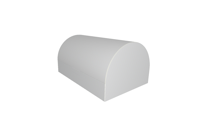 Folding carton box - curved top