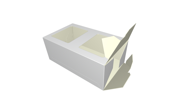Folding carton box Two Apertures
