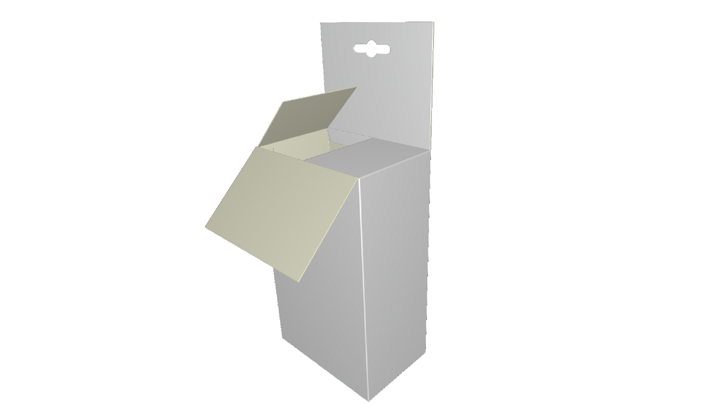 Folding carton box Full Closure