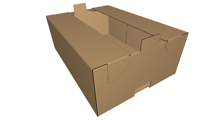 Corrugated box- Self Locking Tray