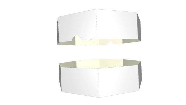 Folding carton box- eight corner base