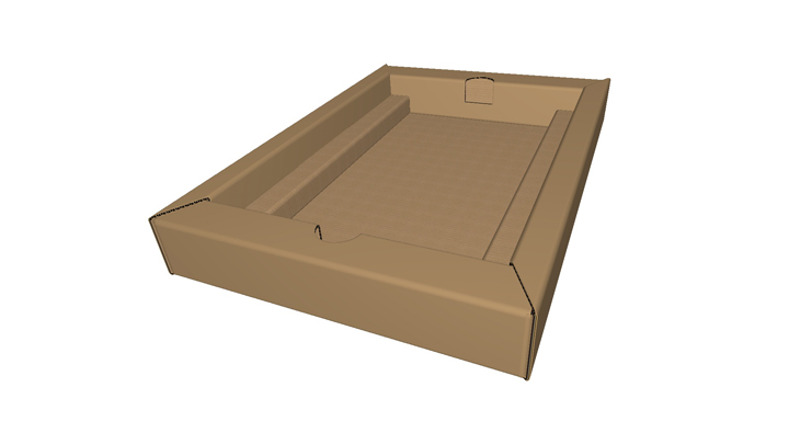 Corrugated buffer wall tray