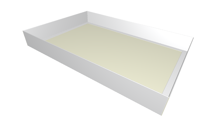 Folding carton tray