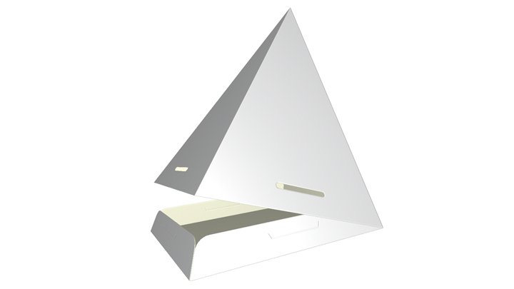 Folding carton pyramid
