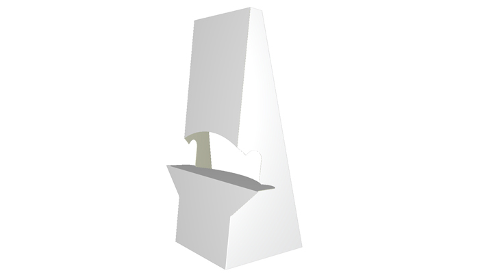Folding carton easel